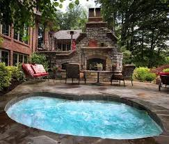 in ground jacuzzi. Twelve Person In-ground Spa Jacuzzi Hot Tub; Outdoor Patio Fireplace/pizza Oven. In Ground