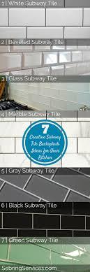 subway tile backsplash 2. 7 Creative Subway Tile Backsplash Ideas For Your Kitchen - Sebring Services 2 W