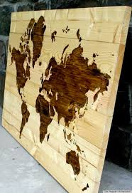 diy wood projects for home. wooden world map diy wood projects for home