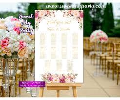 Floral Wedding Seating Charts Blush Wedding Seating Plan 31i