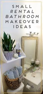 Apartment Bathroom Designs Delectable Small Rental Bathroom Makeover Ideas Not A Passing Fancy Blog