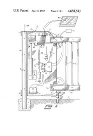 patent us4658543 swinging lift gate google patents patent drawing