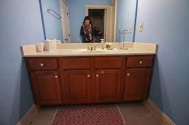how to refinish a bathroom vanity