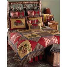 rustic cabin quilts log cabin bedding