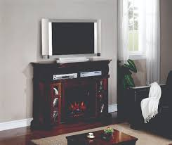 54 bellemeade burnished walnut electric fireplace a console