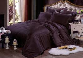 pure silk duvet cover pillowcases 3pcs set 22mm extra thick seamless bedding set dark purple