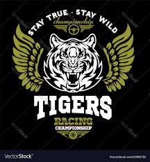 Emblem Design Tiger And Wings Logo Graphic Design Logo