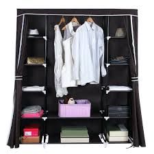 closet storage organizer this portable and collapsible storage solution can be a wardrobe on its own closet storage organizer