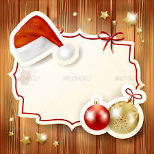 Blank Christmas Background Christmas Background With Label Hat And Baubles Luisaventuroli Blank