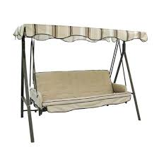 Lowes Garden Treasures 3 Person Cushion Traditional Swing