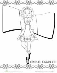 Irish Dance Coloring Page St Patrick S Day Pinterest Irish