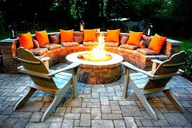 backyard fire pit with seating