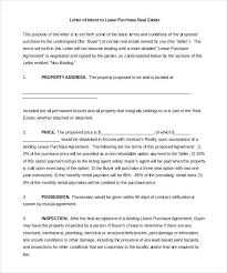 Letter Of Intent Draft Template Real Estate Purchase Word Loi ...