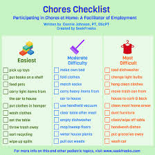 Chores Check List Barca Fontanacountryinn Com