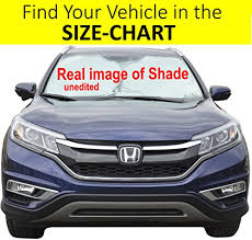 Windshield Size Chart Windshield Sun Shade Exact Fit Size Chart For Cars Suv Trucks Minivans Sunshades Keeps Your Vehicle Cool Heat Shield Mplus