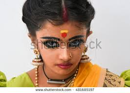 beautiful indian or women or kid wearing sari or saree traditional dress for females in