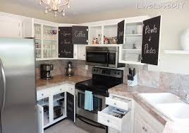 White Kitchen Cupboard Paint Livelovediy The Chalkboard Paint Kitchen Cabinet Makeover