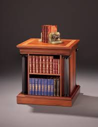 Bookcase Table End Table With Revolving Bookcase Finewoodworking