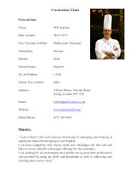 Adorable Resume Sample For Chef De Partie With 20 Job Winning Chef