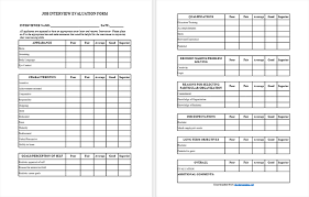 job interview template 5 best interview evaluation form examples and templates