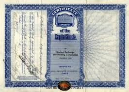 Selling A Share Certificate Stock Market Crash Of 1929 Ohio History Central