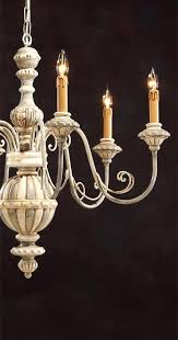 grey wood chandelier carved wood chandelier with wrought iron arms and hand painted antique white and