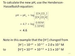 Henderson Hasselbalch To Calculate The New Ph Use The Henderson Hasselbalch