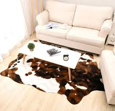imitation yellow cow leather carpet animal floor mat living room bedroom fashion originality rug skin rugs