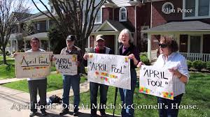 Image result for Mitch mcConnell getting protested in Louisville