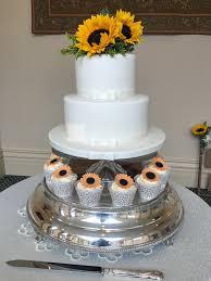 2 Tier Wedding Cake Cupcakes Rochford Essex The Lawn 12th