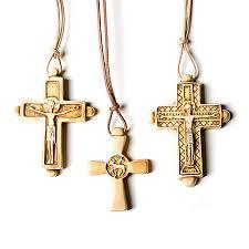 cross pendant in pyrenean stone