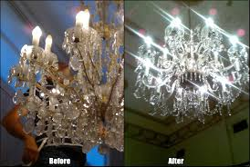 sydney chandelier cleaning before and after photo1