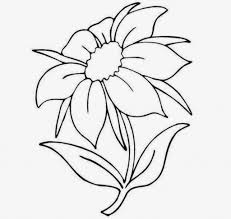 Small Picture Drawing Flowers Easy Flower Easy To Draw Drawing Artisan Drawing