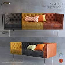 who makes west elm furniture. West Elm Chesterfield Sofa And Oxford Flor Lamp 3d Model Max Obj Fbx 1 Who Makes Furniture