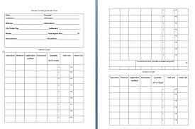 free estimate forms templates painting proposal estimate templates teplates for every day