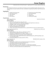 House Cleaner Job Commercial Cleaner Resume Sample Classy Hospital Cleaning Job With