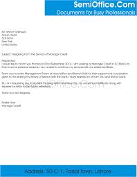 Management Resignation Letter Resignation Letter For Branch Manager