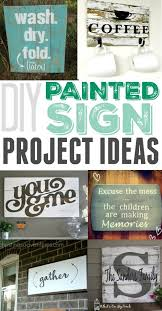 easy diy painted sign project ideas love how simple these are to make and what