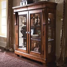 rustic brown wooden glass door display cabinets of amazing wood curio cabinet with glass doors