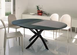 bontempi barone round extending dining table
