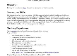 Examples Of Cna Resumes Examples Of Resumes
