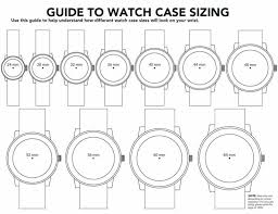 how to a watch to fit a small wrist the idle man men watch size guide diagram
