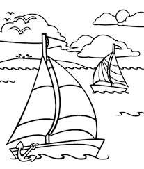 Ocean Coloring Sheets Sailing Boat Sailing Boat In The Ocean
