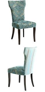 teal dining chair damask blue room covers chairs