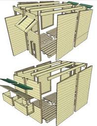 plan d ensemble du poulaillier en palettes poulaillers poulailler maison jardin poulailler