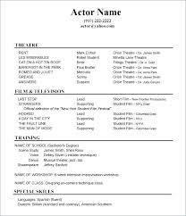 Acting Resume Examples Cool Acting Resume Skills Special Skills On Resume Example Lovely Acting
