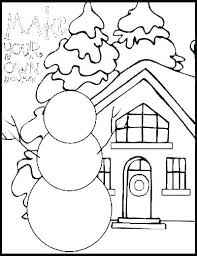 Winter Coloring Pages Printable Tree In Winter Coloring Page Winter