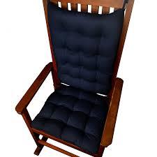 Amazon Com Barnett Rocking Chair Cushions Cotton Duck Solid Navy Blue Rocking Chair Pads