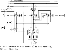 5 6 squirrel cage induction motor three contactor star delta connection