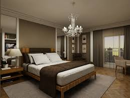 bedroom: Excellent Grey Bedroom Wall Painted Feat Likeable Oak Wood  Platform Bed And Fancy Brown
